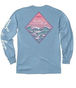 LILY GRACE T-Shirt Scene Series Waves Azure LS