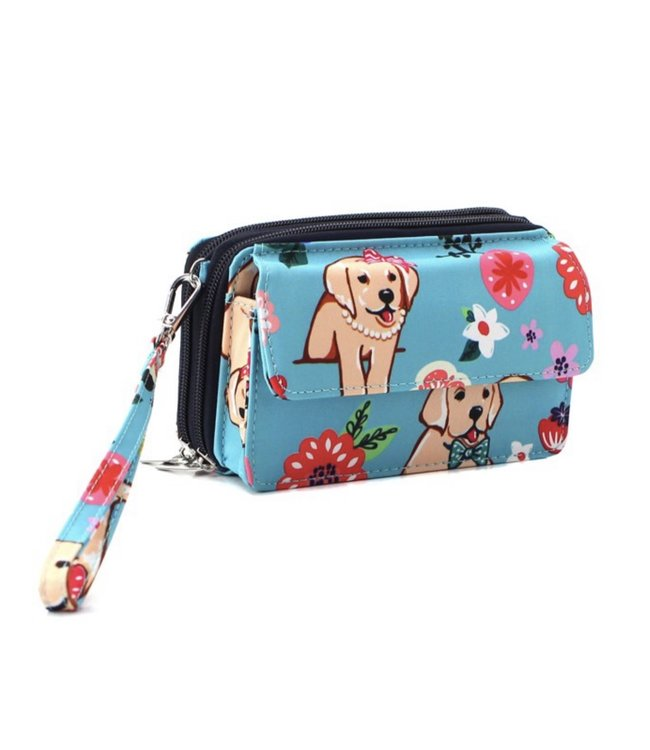 NGIL Phone Case Wallet Floral Puppy DGFD 942