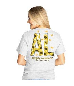 SIMPLY SOUTHERN T-shirt Simply Southern AL Ash