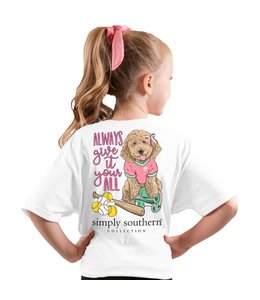 SIMPLY SOUTHERN T-shirt Youth SS Ball White