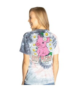 SIMPLY SOUTHERN T-shirt Simply Southern Hot Mess Pastel