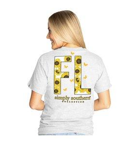 SIMPLY SOUTHERN T-shirt Simply Southern FL Ash