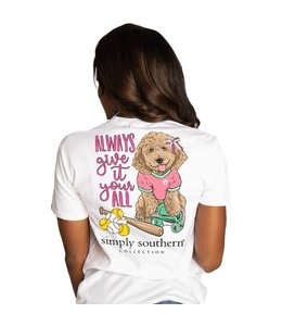 SIMPLY SOUTHERN T-shirt Simply Southern Ball White
