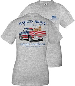 SIMPLY SOUTHERN T-shirt Youth SS Truck Heather Gray