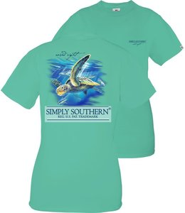 SIMPLY SOUTHERN T-shirt Youth SS Turtle Sea