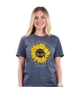 SIMPLY SOUTHERN T-shirt Simply Southern Vintage Messy Heather Navy