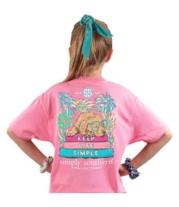 SIMPLY SOUTHERN T-shirt Youth SS Keep Life Simple Flamingo