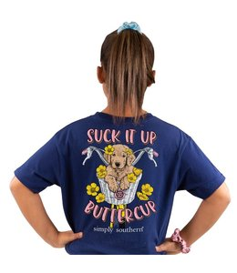 SIMPLY SOUTHERN T-shirt Youth SS Suck it up Buttercup Midnight