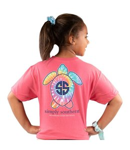 SIMPLY SOUTHERN T-shirt Youth SS Save Logo Multi Begonia