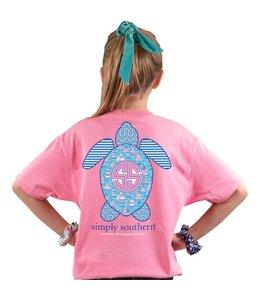 SIMPLY SOUTHERN T-shirt Youth SS Save Boats Flamingo