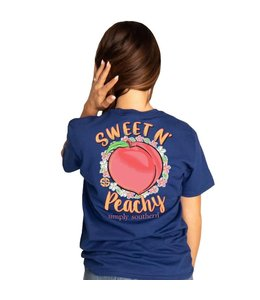 SIMPLY SOUTHERN T-shirt Simply Southern Peachy Navy