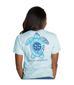 SIMPLY SOUTHERN T-shirt Simply Southern Save Sea Turtle Tie Dye Ice