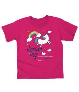 KIDZ T-Shirt Dream Big Unicorn Heliconia