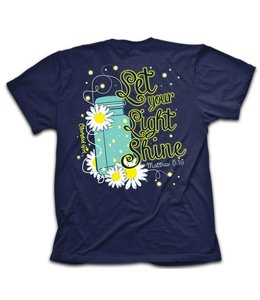 CHERISHED Girl T-Shirt Lightening Bug Navy