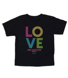 KIDZ T-Shirt Love Stripes Black