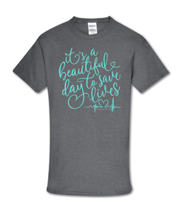 Southern Couture T-shirt SC Soft Save Lives Graphite Heather