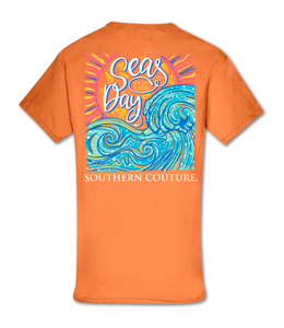Southern Couture T-shirt SC Classic Seas the Day Tangerine