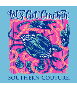Southern Couture T-shirt SC Classic Let's Get Crackin Sky Blue