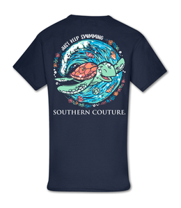 Southern Couture T-Shirt SC Classic Just Keep Swimming Navy