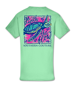 Southern Couture T-shirt SC Classic Go With The Flow Mint Green