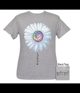 GIRLIE GIRL ORIGINALS T-Shirt Volleyball Daisy Grey