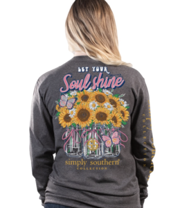 SIMPLY SOUTHERN T-Shirt Soul Shine Sunflowers Long Sleeve