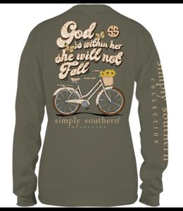 SIMPLY SOUTHERN T-Shirt God Moss LS SS