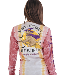 SIMPLY SOUTHERN T-Shirt  Fly Autumn Halloween Long Sleeve SS