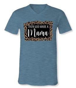 SASSY FRASS V-Neck Shirt God Made Mama SF