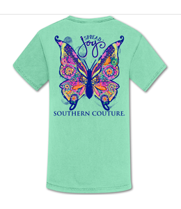 Southern Couture T-shirt SC Comfort Spread Joy Butterfly Island Reef
