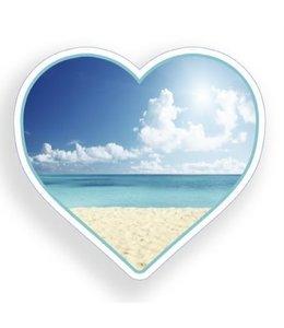 Decal Beach Scene Heart