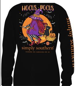SIMPLY SOUTHERN T-Shirt  Hocus Black  LS SS