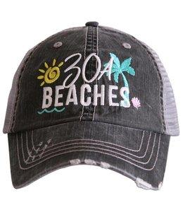 KATYDID BALL CAP 30A BEACHES TRUCKER HAT