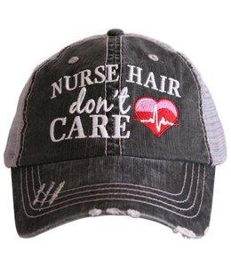 KATYDID NURSE HAIR DON'T CARE TRUCKER CAP