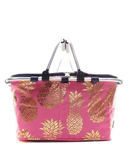 NGIL CANVAS INSULATED MARKET TOTE PINEAPPLE FOIL GNPL 658