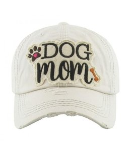 BALL CAP Distressed DOG MOM Patch