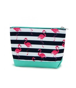 RAINBOW GIFTS INC COSMETIC BAG FLAMINGOS K305