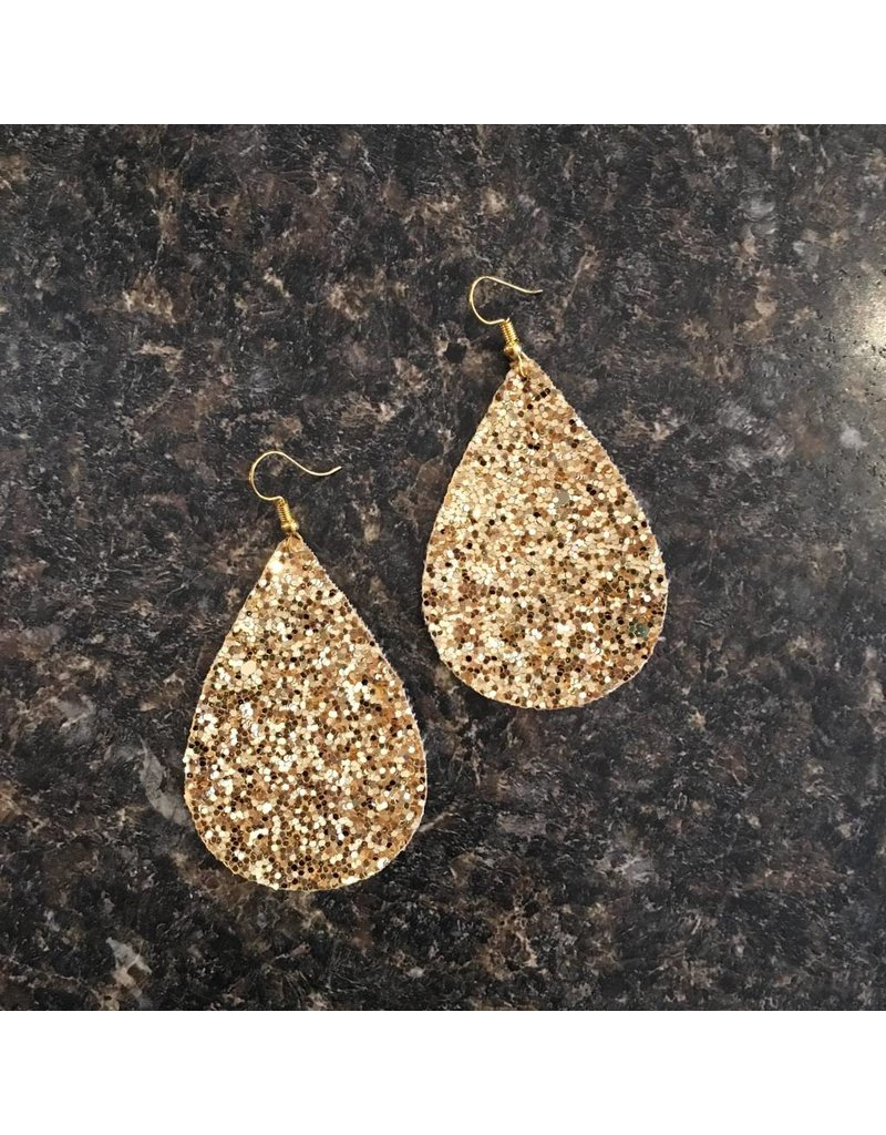 Gold Glitter Earrings