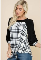 Retro Front Knot Top