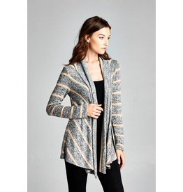 Terry Stripe Cardigan