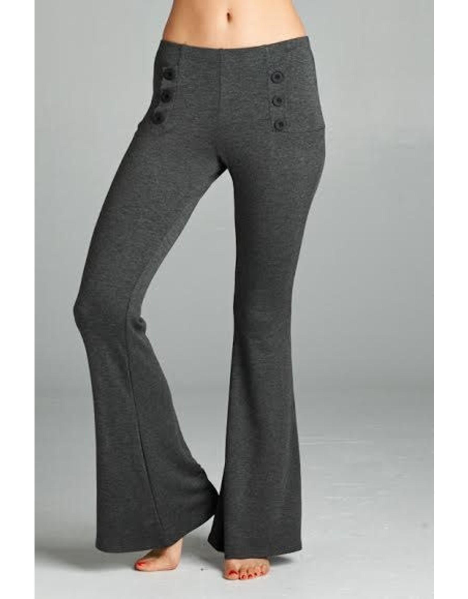 Decorative Button Pants
