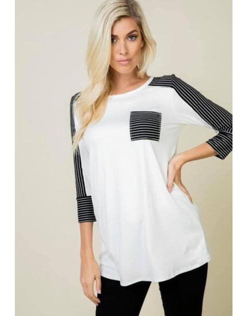 White w/ Black Stripe