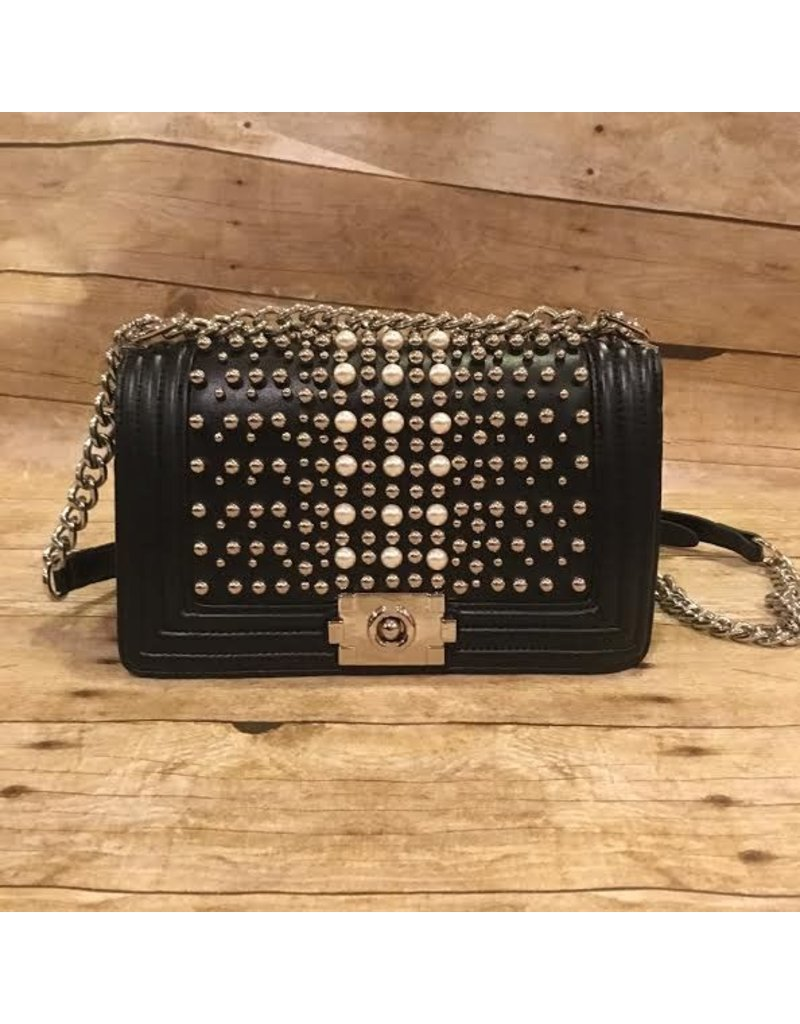Pearl and Metal Studded Purse