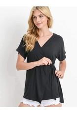 Short Sleeve Wrap Top