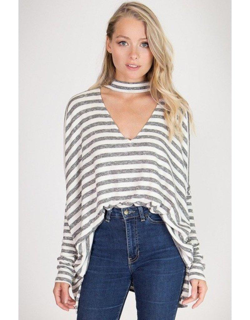 Classic Stripe V-Neck