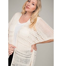 Crochet Cardigan with Fringe Hem