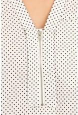Polka Dot Zipper Top