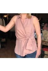 Dusty Pink Front Tie Top