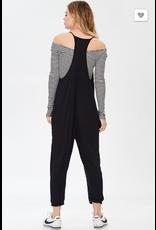Frech Terry V- neck Jumpsuit w/ Pockets