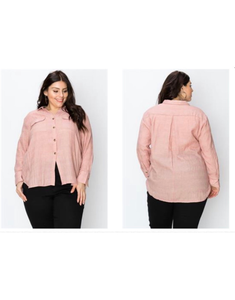 Button Up Pocket Blouse